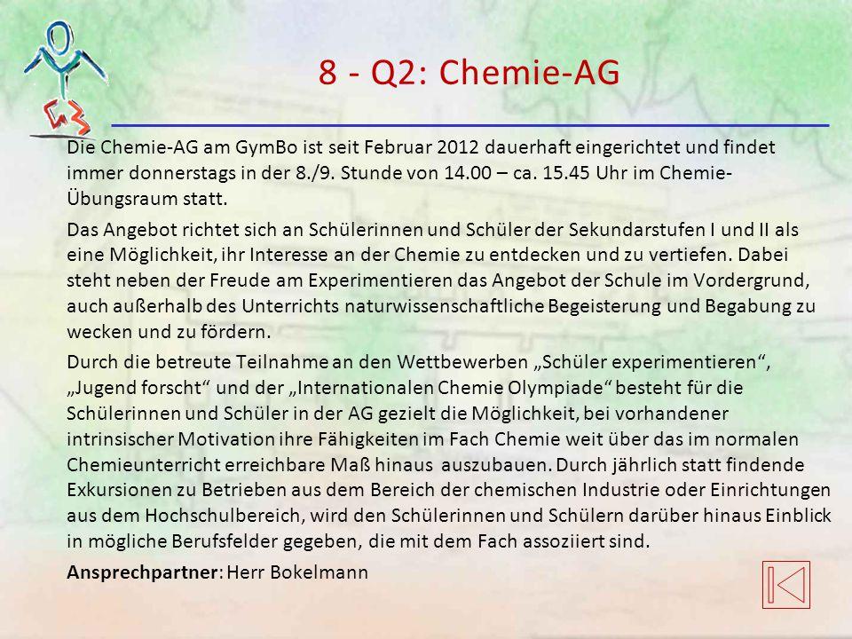 8 - Q2: Chemie-AG