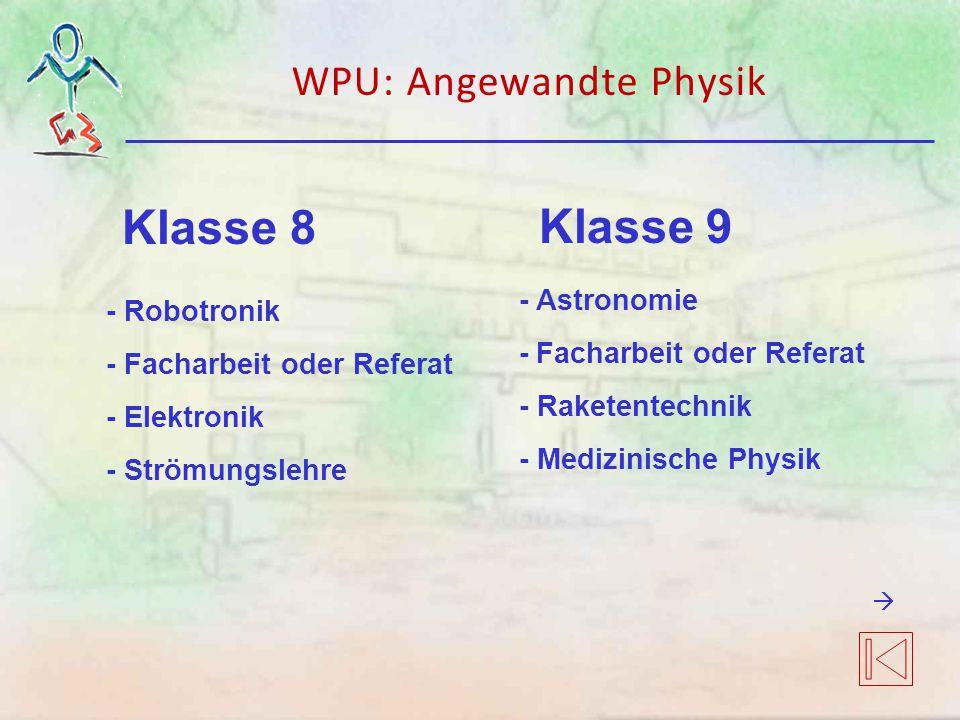 WPU: Angewandte Physik