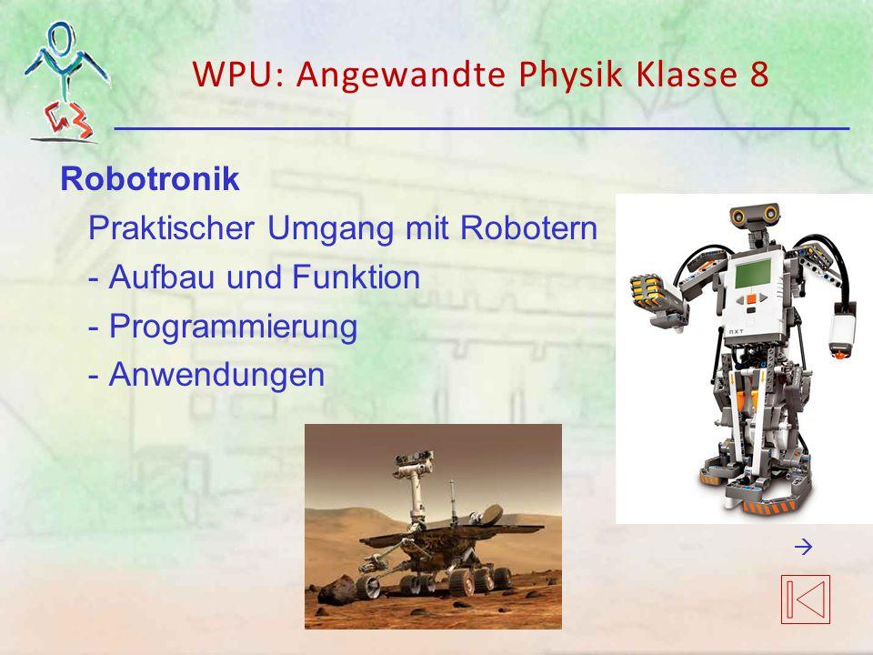WPU: Angewandte Physik Klasse 8