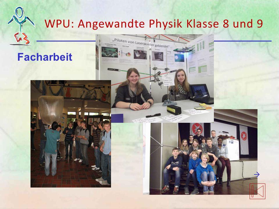 WPU: Angewandte Physik Klasse 8 und 9