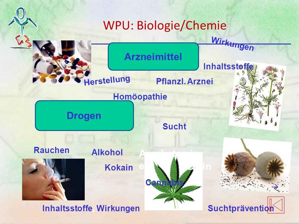 WPU: Biologie/Chemie Arzneimittel Drogen Amphetamine Heroin …