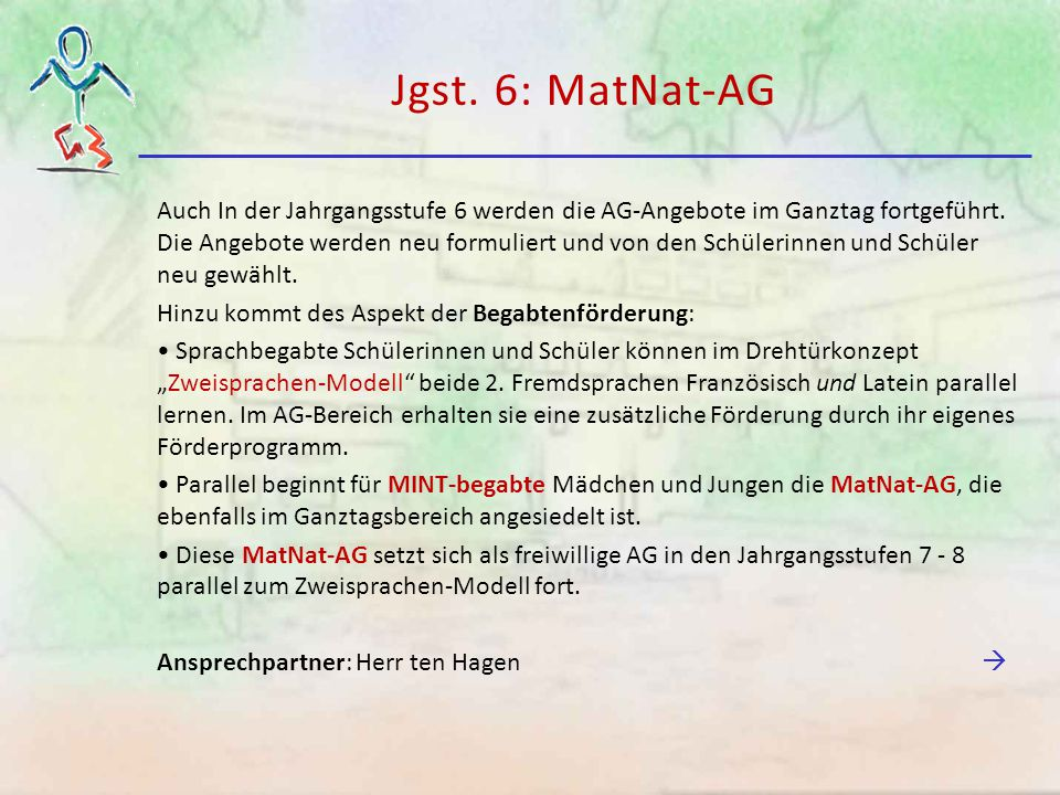 Jgst. 6: MatNat-AG