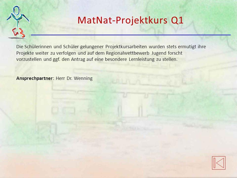 MatNat-Projektkurs Q1