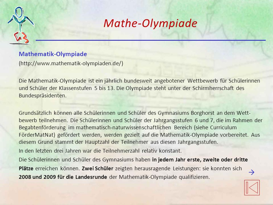 Mathe-Olympiade Mathematik-Olympiade 