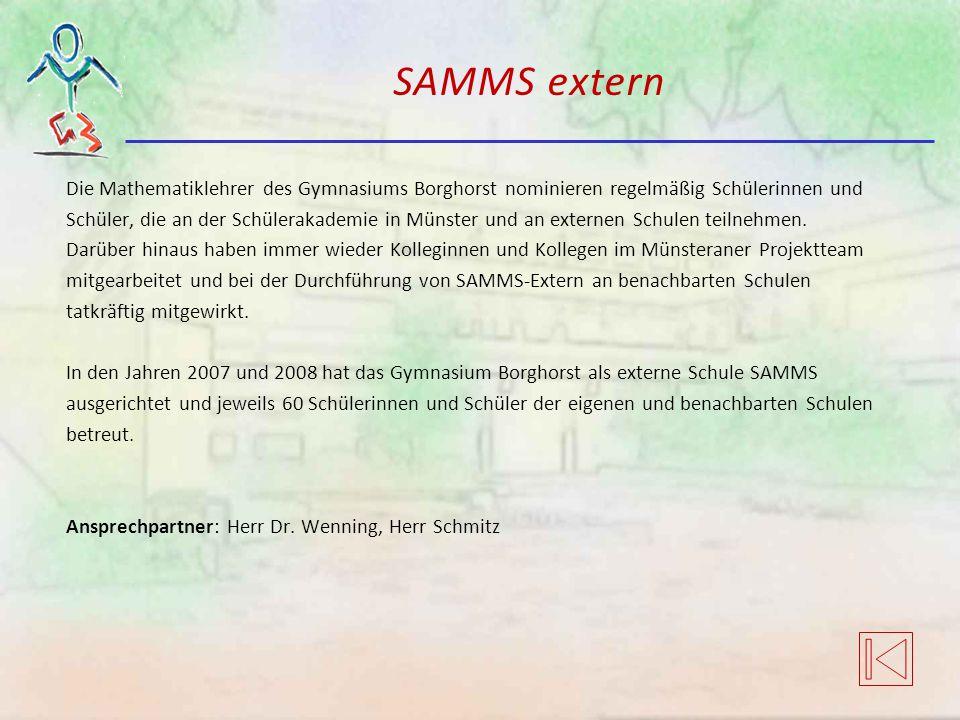 SAMMS extern