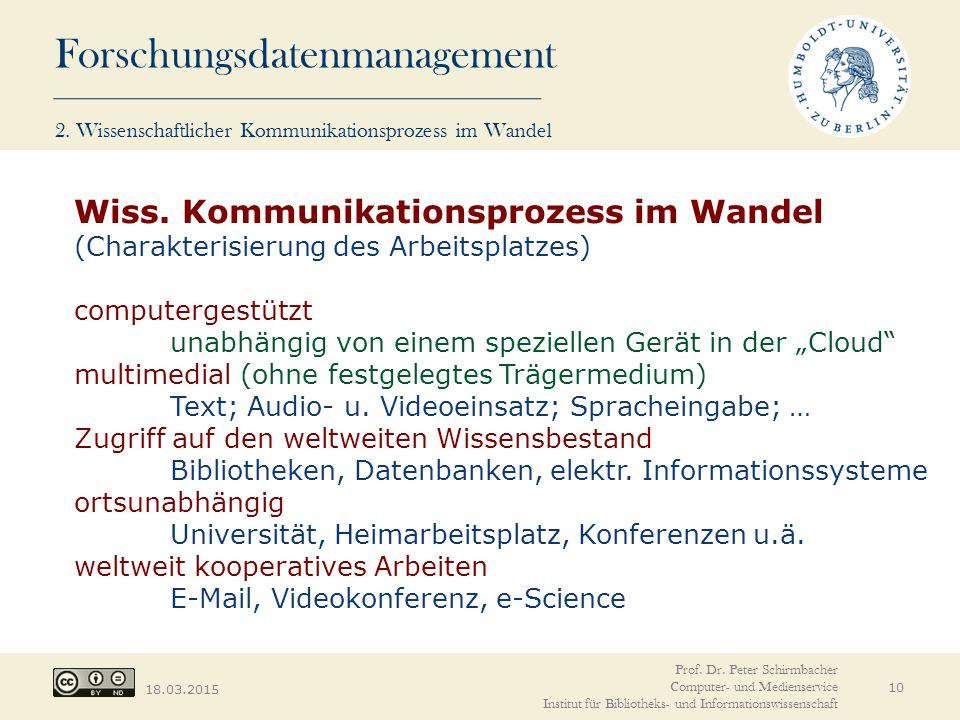 2. Wissenschaftlicher Kommunikationsprozess im Wandel