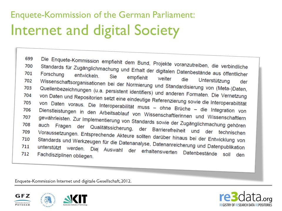 Enquete-Kommission of the German Parliament: Internet and digital Society