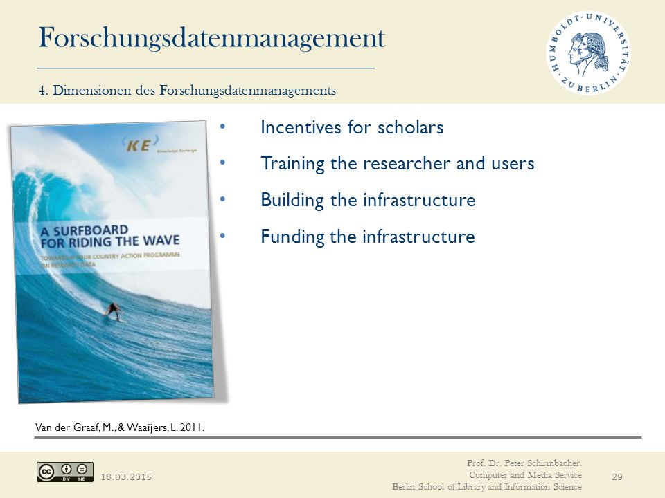 Incentives for scholars Training the researcher and users