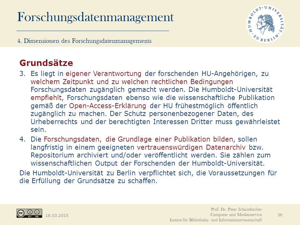 4. Dimensionen des Forschungsdatenmanagements