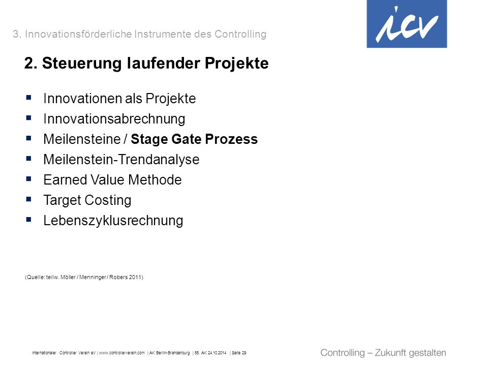 2. Steuerung laufender Projekte