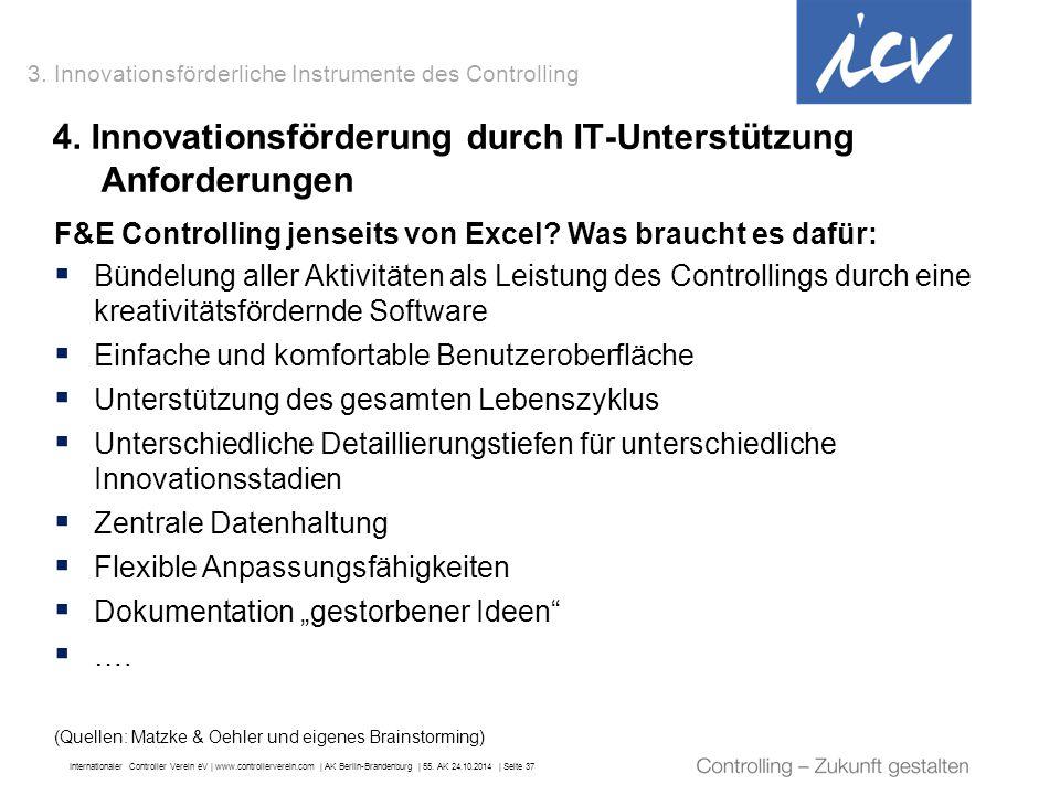 4. Innovationsförderung durch IT-Unterstützung Anforderungen
