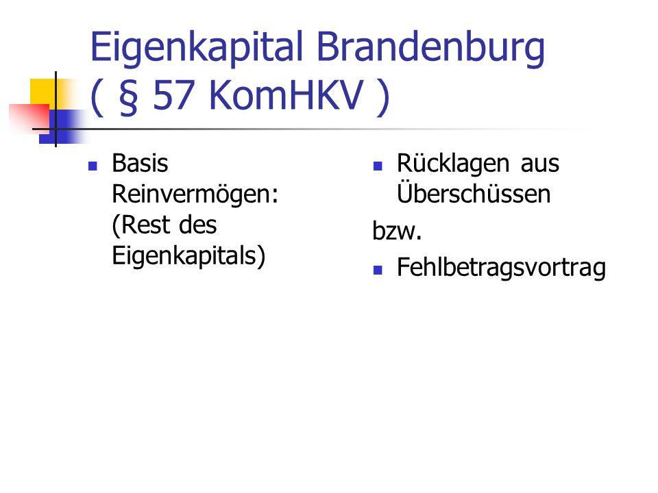 Eigenkapital Brandenburg ( § 57 KomHKV )