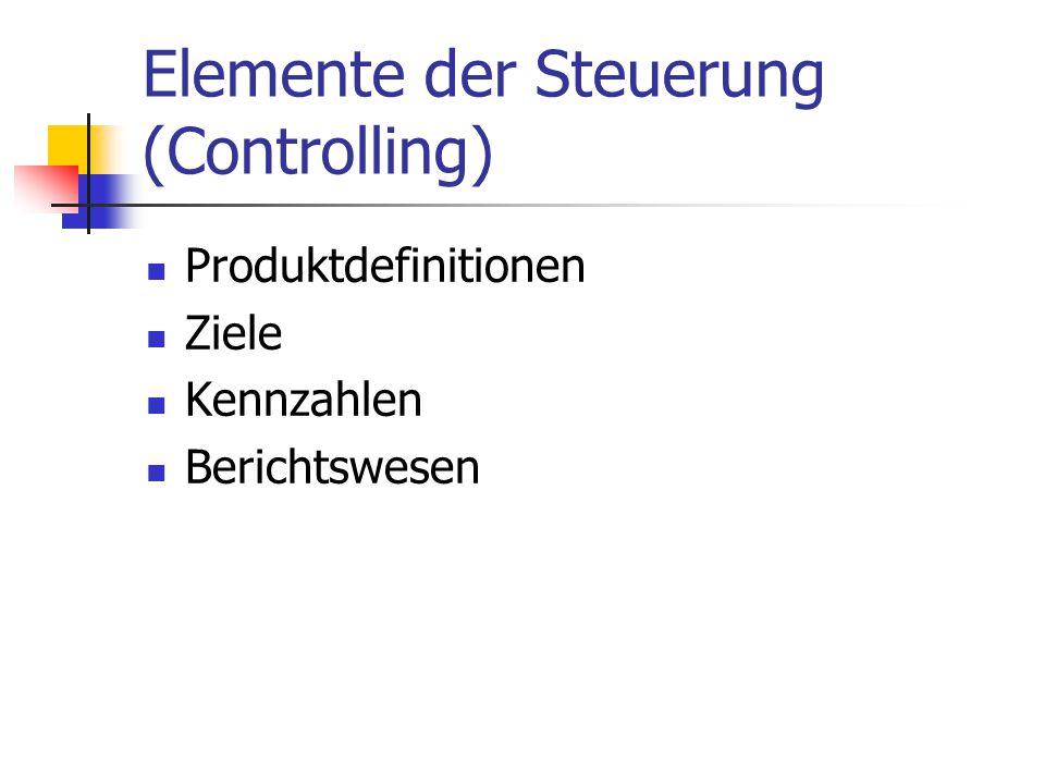 Elemente der Steuerung (Controlling)
