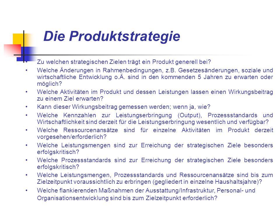 Die Produktstrategie Zu welchen strategischen Zielen trägt ein Produkt generell bei