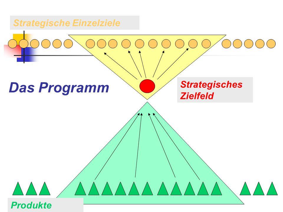 Das Programm Strategische Einzelziele Strategisches Zielfeld Produkte