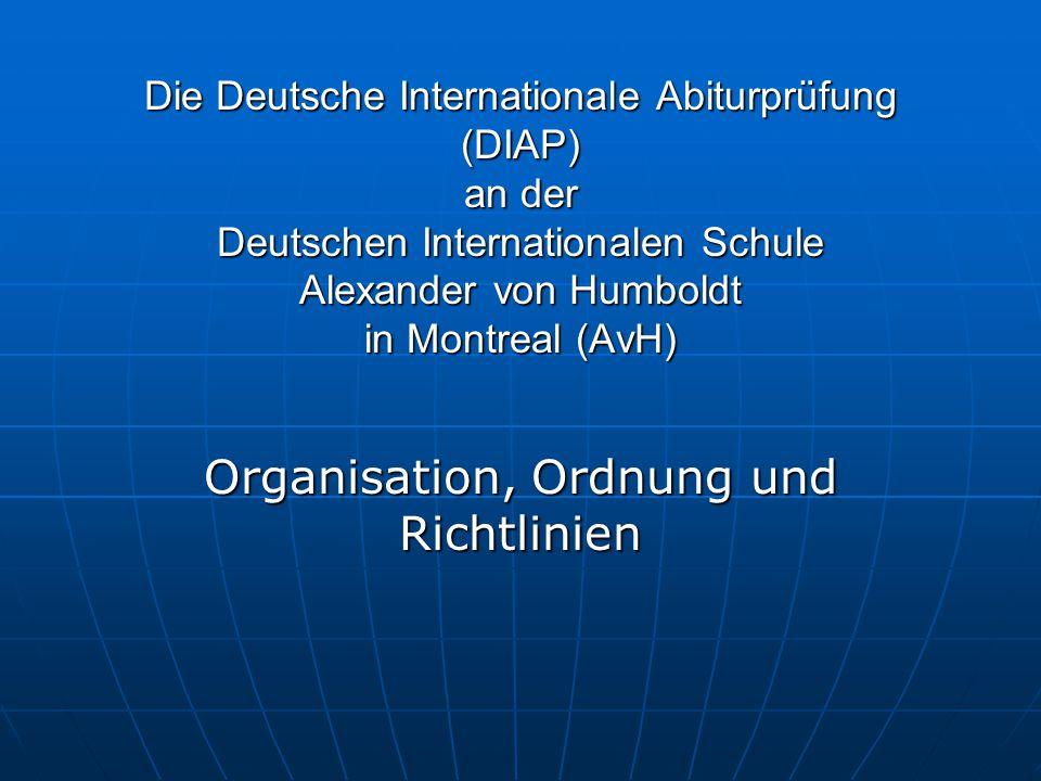 Organisation, Ordnung und Richtlinien