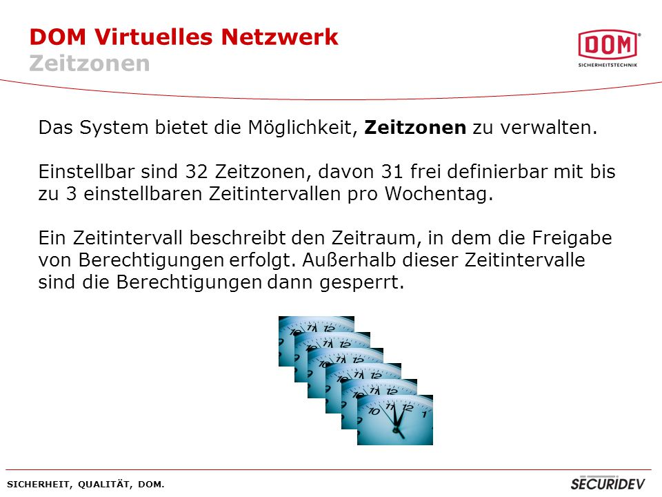 DOM Virtuelles Netzwerk Zeitzonen