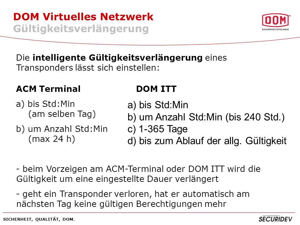 DOM Virtuelles Netzwerk Gültigkeitsverlängerung