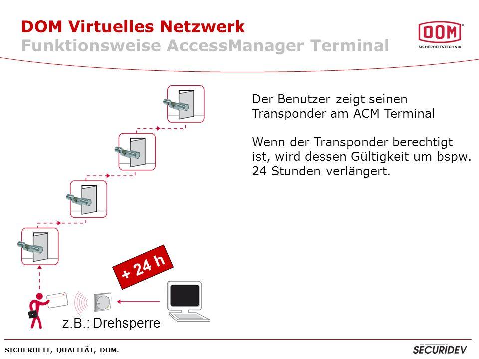 DOM Virtuelles Netzwerk Funktionsweise AccessManager Terminal