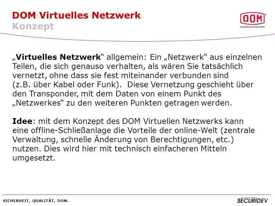 DOM Virtuelles Netzwerk Konzept
