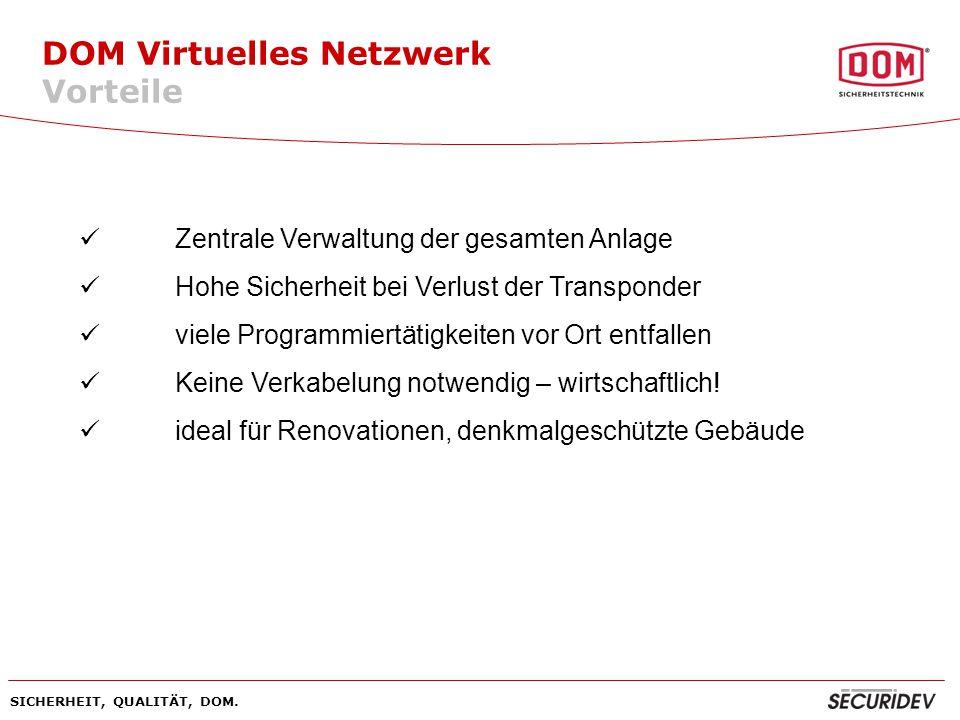 DOM Virtuelles Netzwerk Vorteile