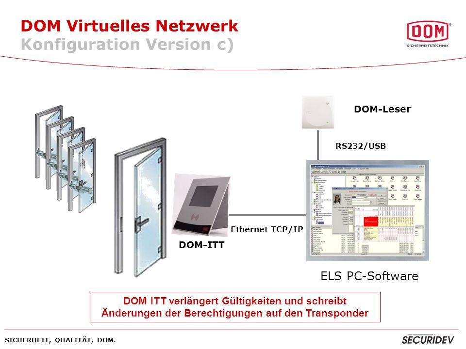 DOM Virtuelles Netzwerk Konfiguration Version c)
