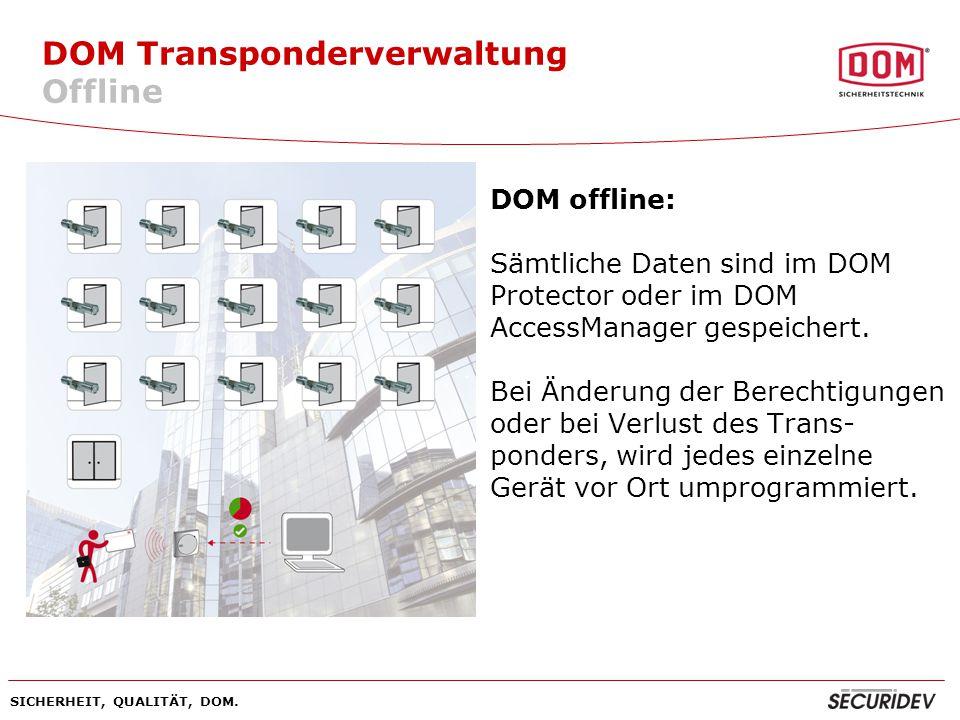 DOM Transponderverwaltung Offline