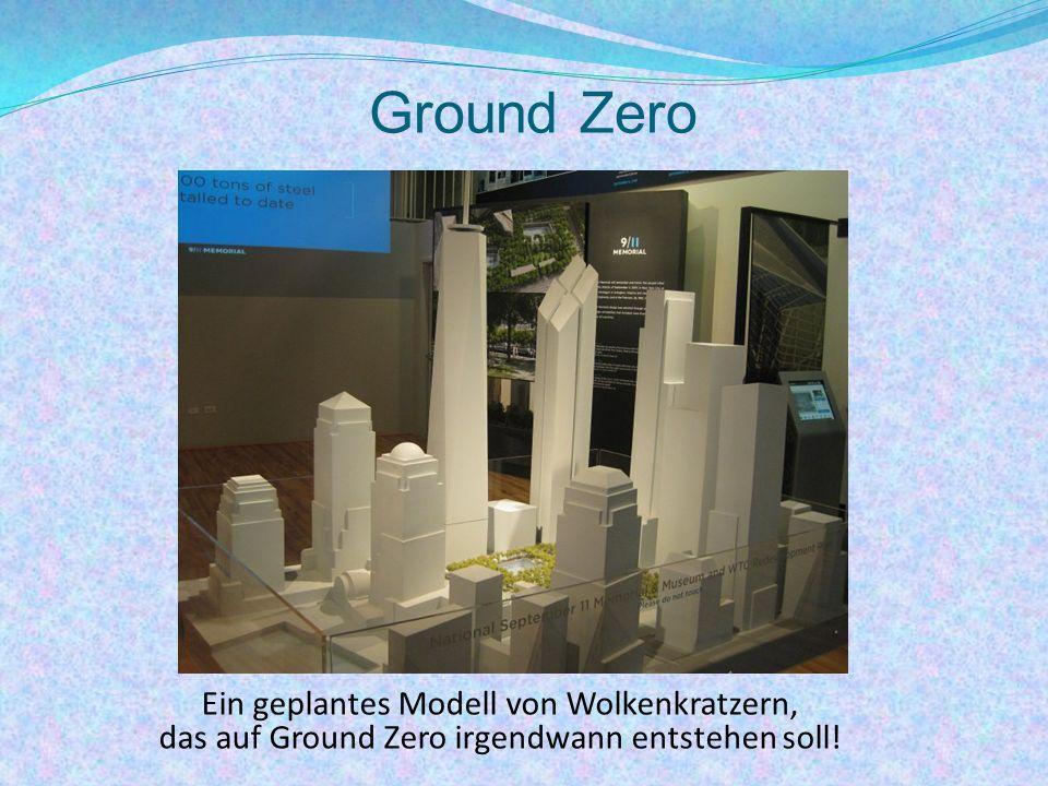 Ground Zero Ein geplantes Modell von Wolkenkratzern,