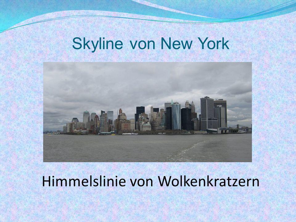 Himmelslinie von Wolkenkratzern