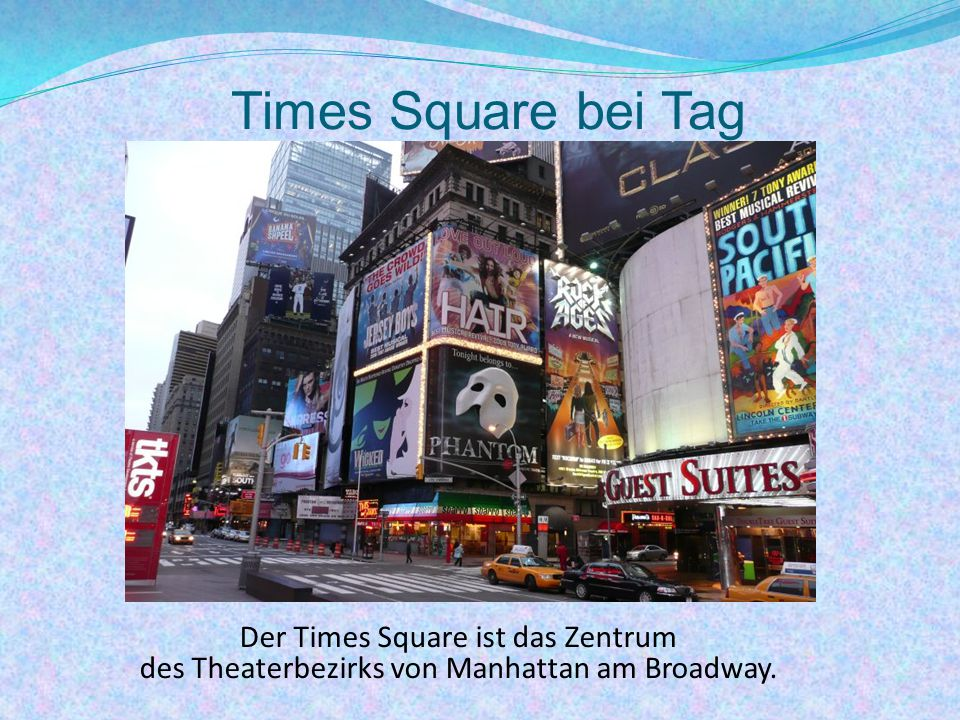 Times Square bei Tag Der Times Square ist das Zentrum