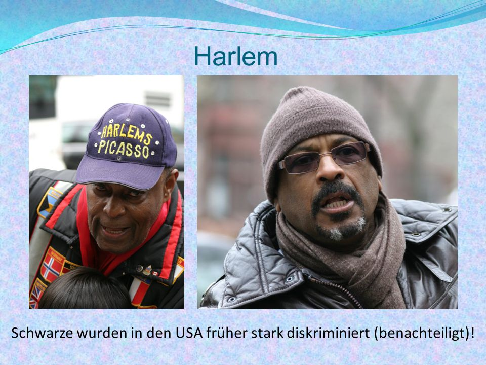 Schwarze wurden in den USA früher stark diskriminiert (benachteiligt)!