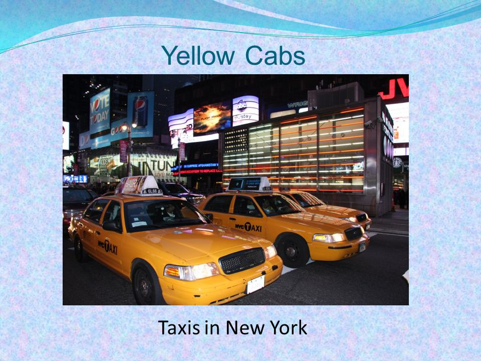Yellow Cabs Taxis in New York