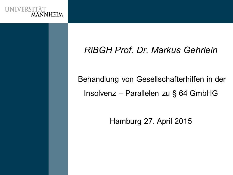 RiBGH Prof. Dr.