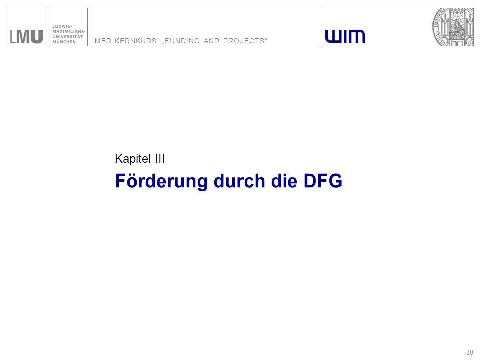 Agenda Überblick über DFG-Förderungen