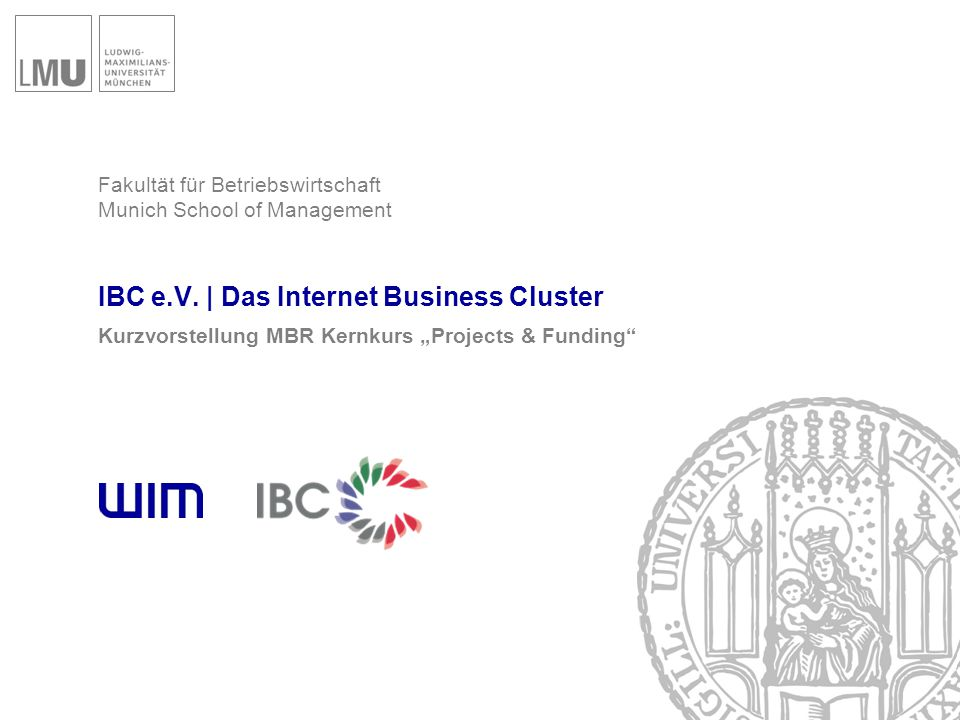 Die Idee eines Internet Business Clusters