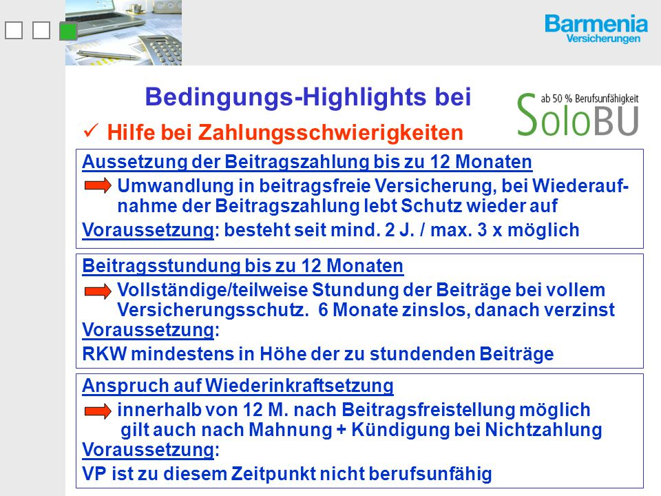 Bedingungs-Highlights bei