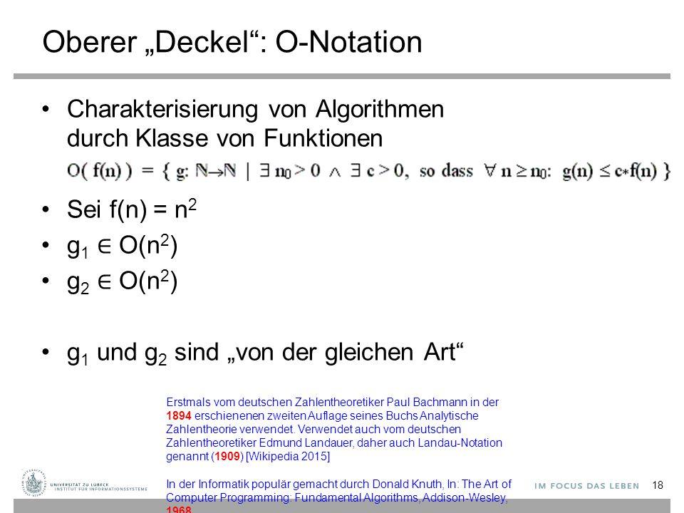 """Oberer """"Deckel : O-Notation"""