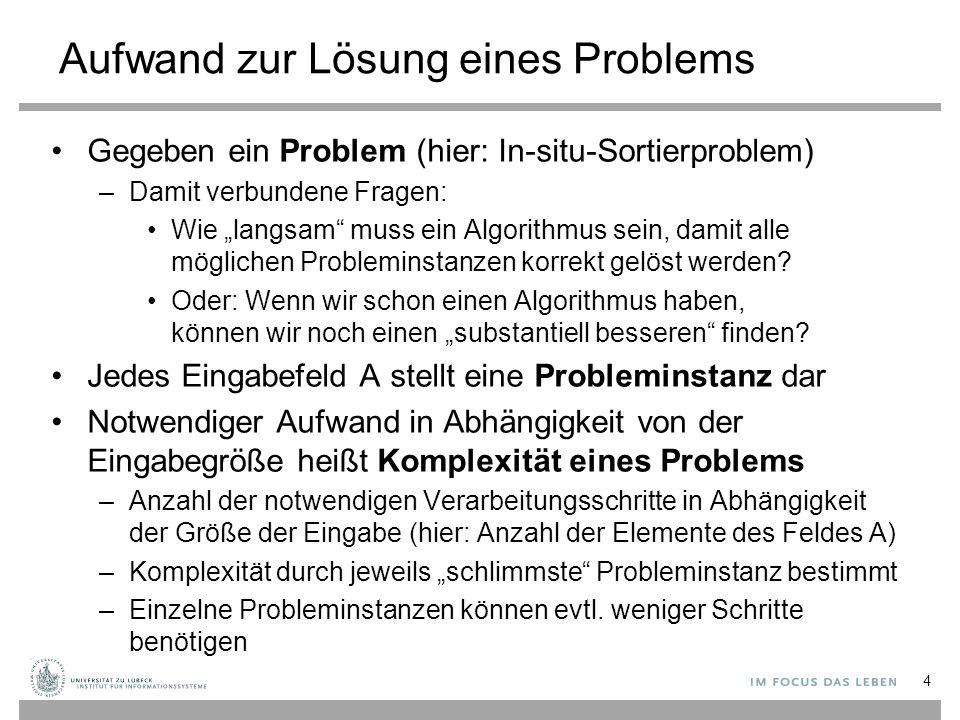 Aufwand zur Lösung eines Problems
