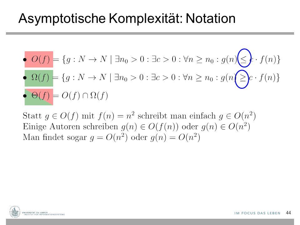 Asymptotische Komplexität: Notation