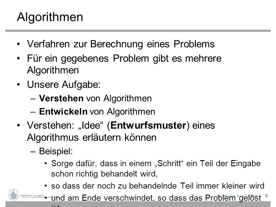 Algorithmen Verfahren zur Berechnung eines Problems