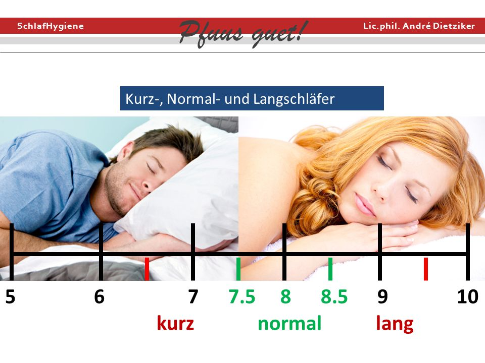 Kurz-, Normal- und Langschläfer