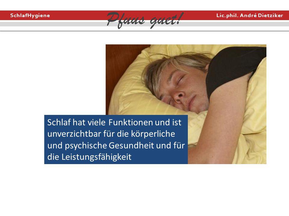 Schlaf hat viele Funktionen und ist unverzichtbar für die körperliche und psychische Gesundheit und für die Leistungsfähigkeit