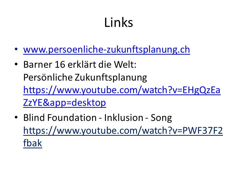 Links www.persoenliche-zukunftsplanung.ch