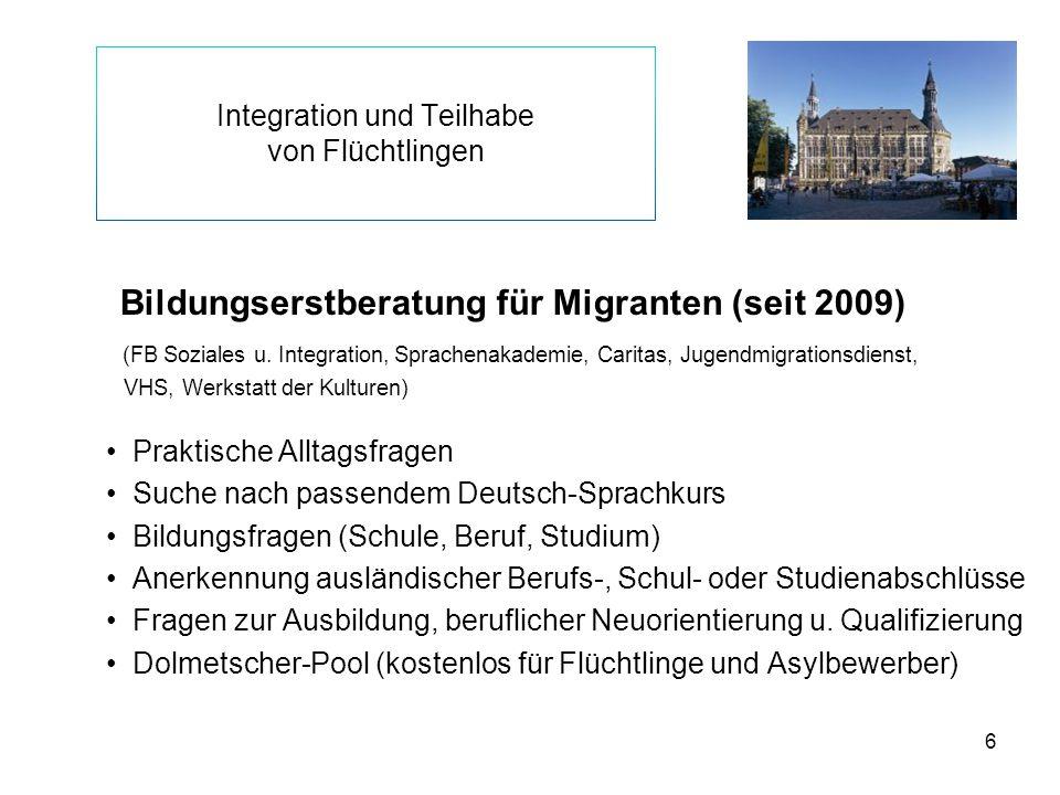 Integration und Teilhabe von Flüchtlingen