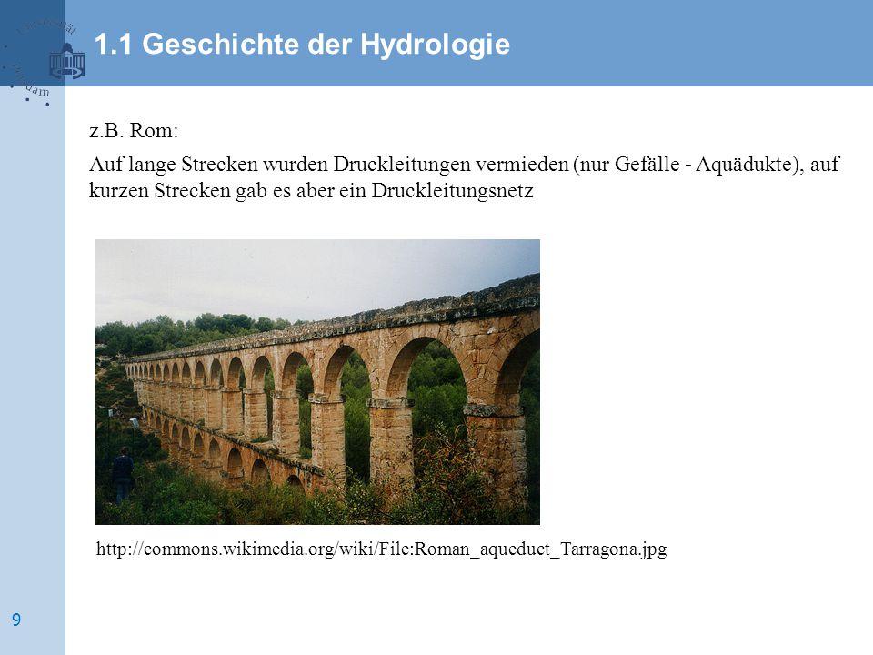 1.1 Geschichte der Hydrologie