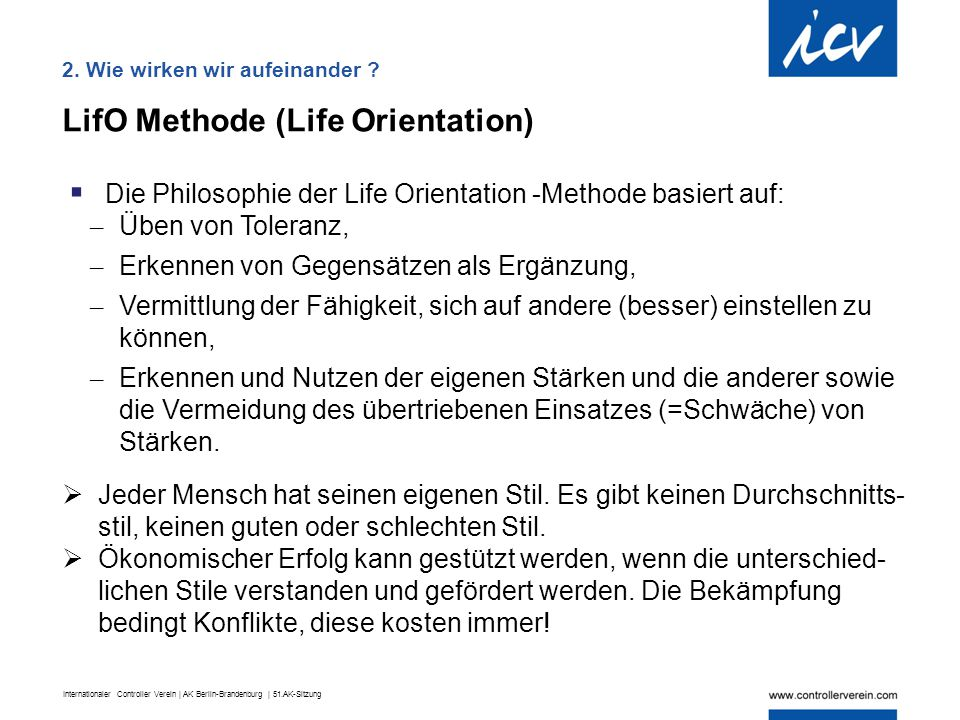 LifO Methode (Life Orientation)