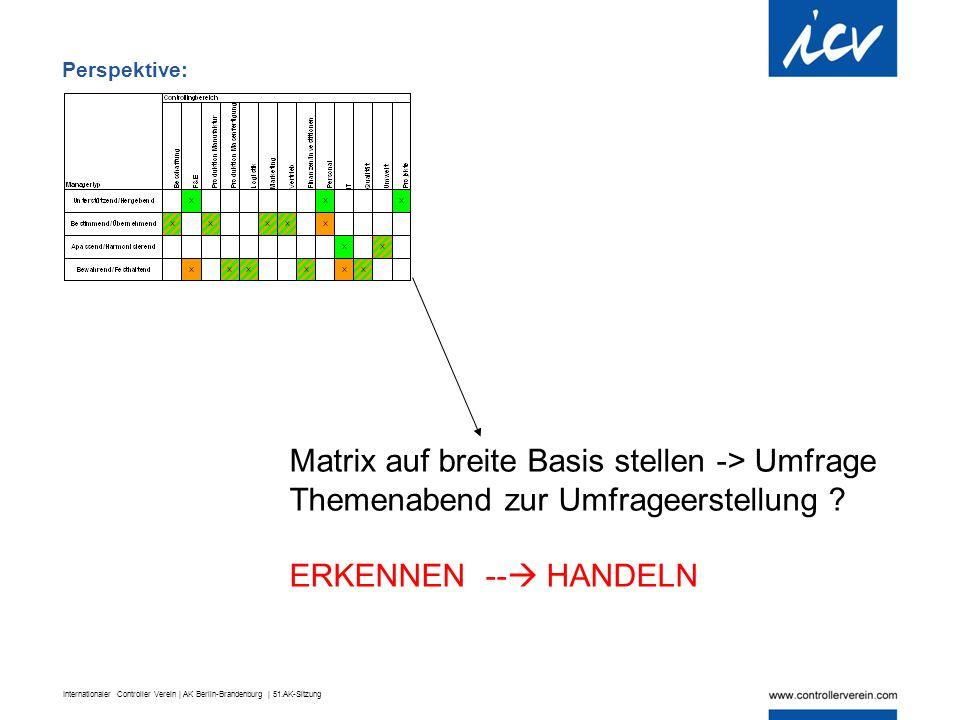 Matrix auf breite Basis stellen -> Umfrage