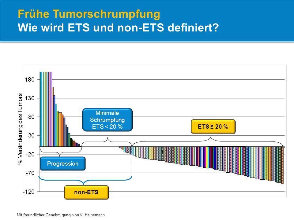 Frühe Tumorschrumpfung Wie wird ETS und non-ETS definiert