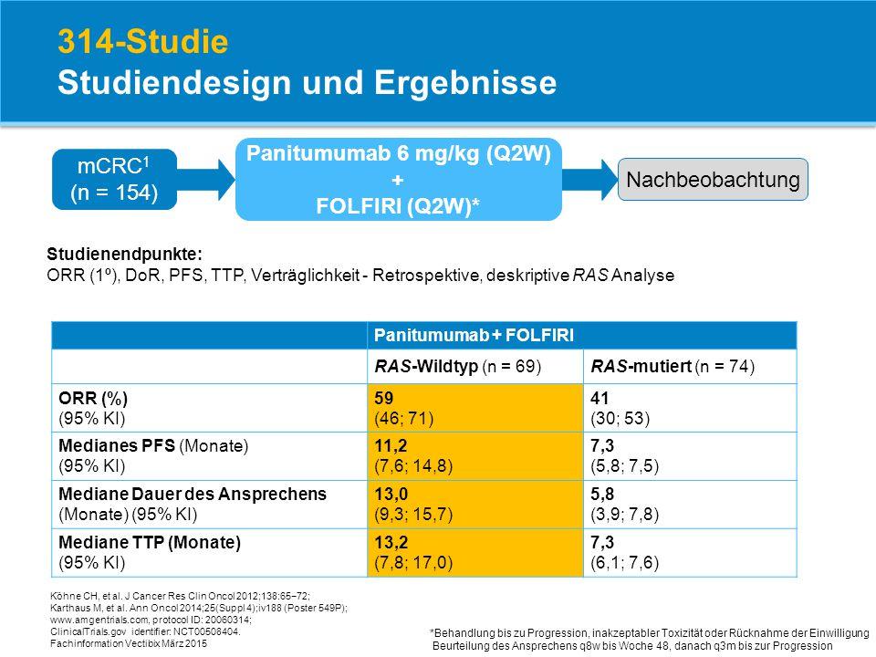 314-Studie Studiendesign und Ergebnisse