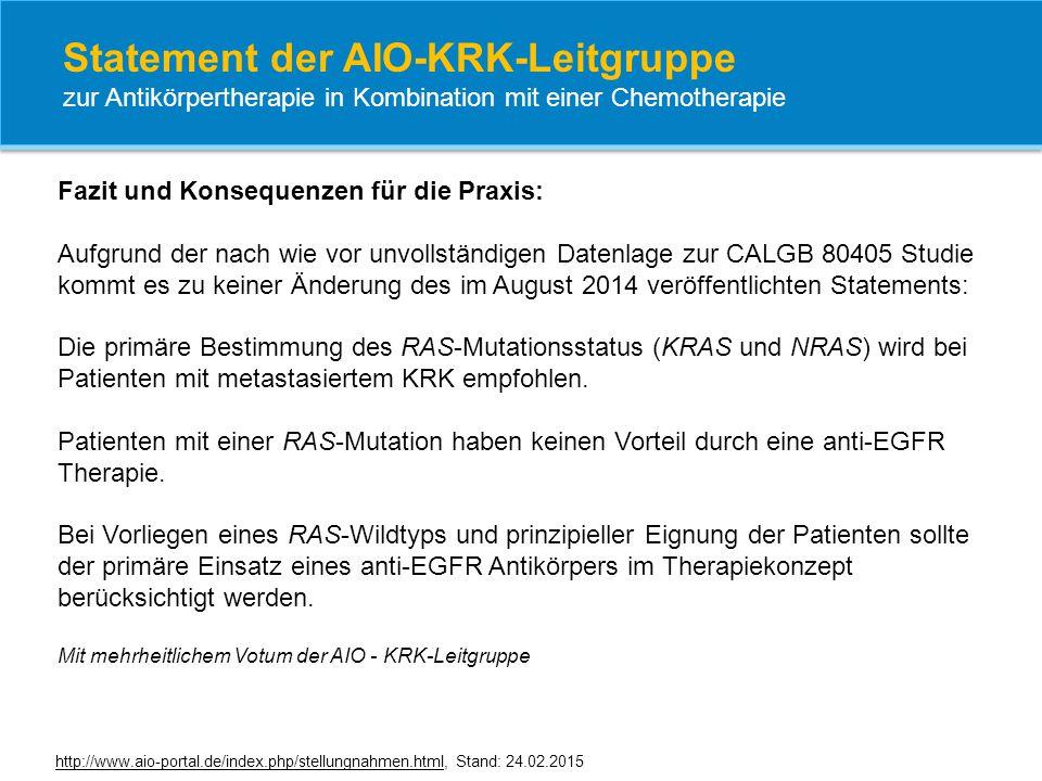 Statement der AIO-KRK-Leitgruppe